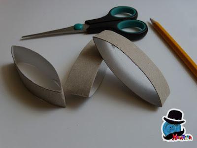riciclo tubi di cartone per realizzare farfalla di spago