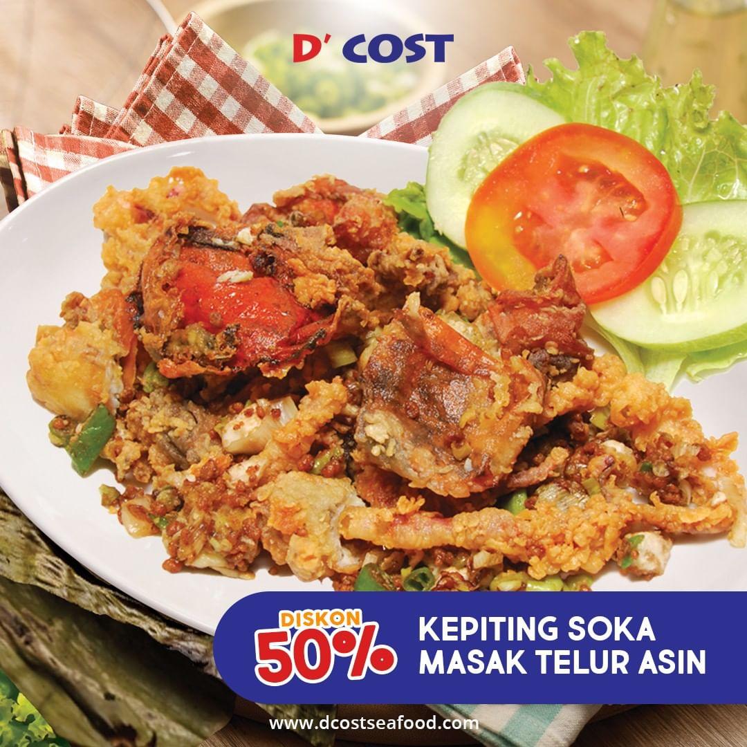 D'Cost - Promo Diskon 50% Kepiting Soka Telur Asin (s.d 30 Nov 2018)