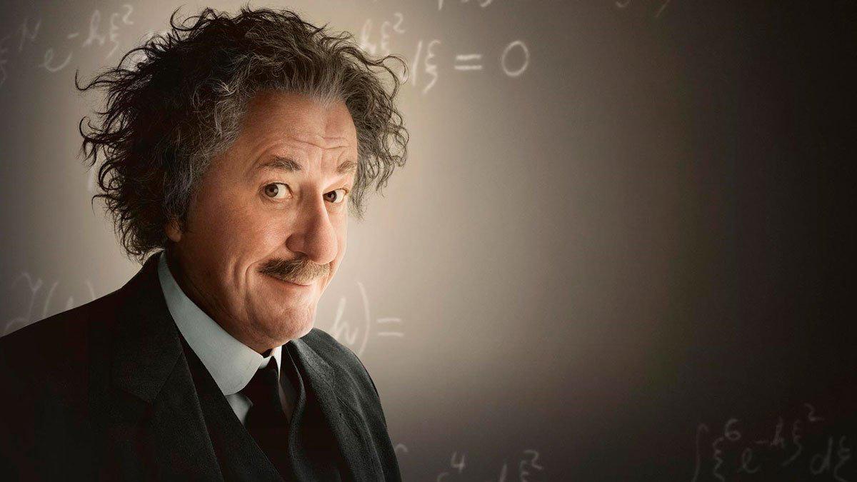 Geoffrey Rush es Albert Einstein en 'Genius'