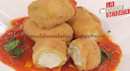 La Cuoca Bendata - Paccheri ripieni fritti ricetta Parodi