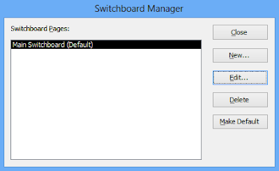 The switchboard manager dialogue box