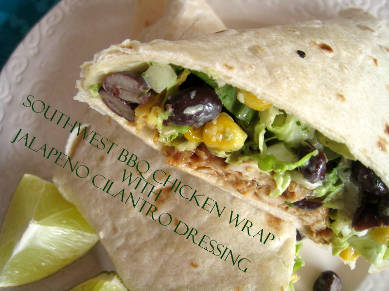 The Way to My Family's Heart: Southwest BBQ Chicken Wrap ...