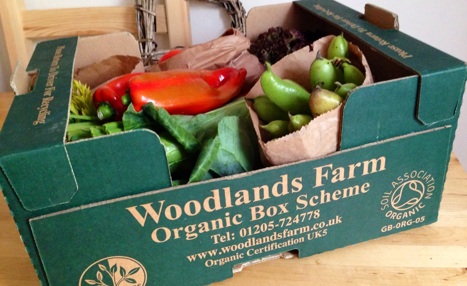 Woodlands Farm organic veg box
