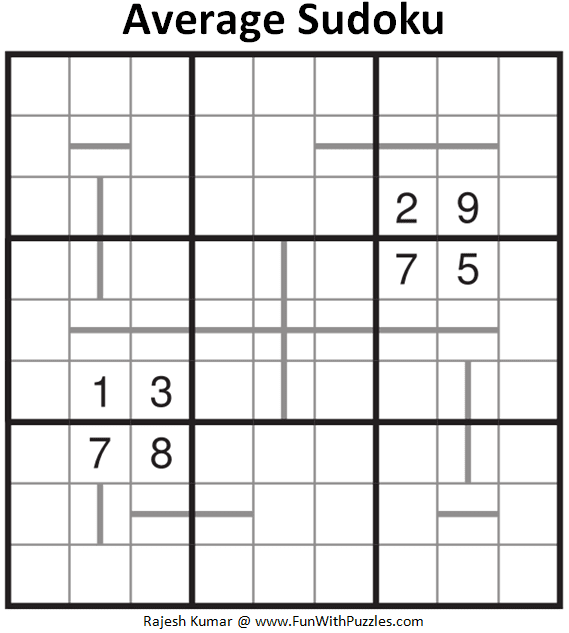 Average Sudoku Puzzle (Fun With Sudoku #332)
