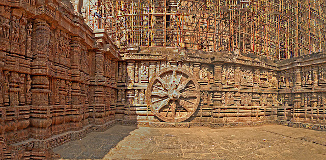 Konark Sun Temple Chariot Wheel - UNESCO World  Heritage site in India