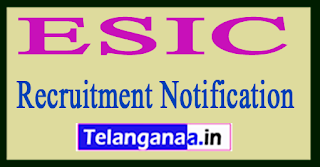 ESIC Kerala Recruitment Notification 2017