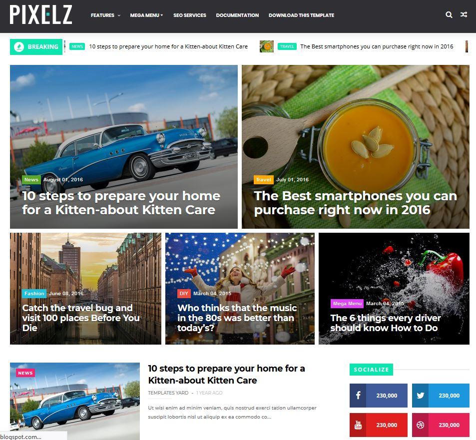 11 Best Free Blogger Templates 2018 Getfreedesign