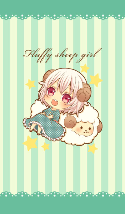 Fluffy sheep girl