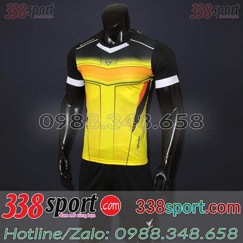 Áo Bóng Đá Không Logo Hot Eureka Versus SPH01 Vàng Đen