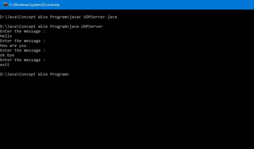 Client-Server using UDP Connection ~ CodingSter