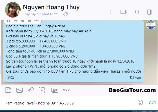 Quy định thanh toán tiền tour du lịch