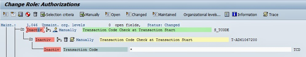 SAP Admin Tips: Creating Display Only Security Roles