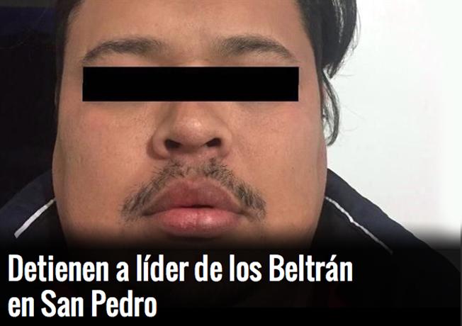 """Marinos capturan a """"El Cochi"""", o """"El 19"""", líder de los Beltrán Leyva en San Pedro NL"""