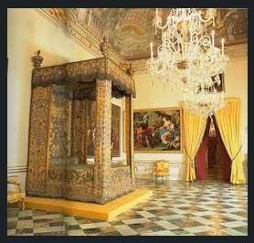 Cama de Felipe V e Isabel de Farnesio. Palacio de La Granja