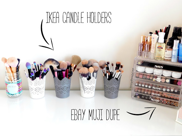 Makeup Brush Storage, Acrylic Makeup Storage, Muji Dupes