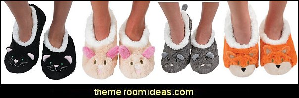 Snoozies Womens Animal Heads Sherpa Plush Fleece Lined Slipper Socks  Pajamas - fun pajamas family pajamas sleepwear - Girls Pajamas - Boys Pajamas - Mommy & Me pajamas - Christmas pajamas - fun boxers - Christmas gifts - holiday traditions - socks  - novelty socks - Christmas socks - Holiday clothing - slippers