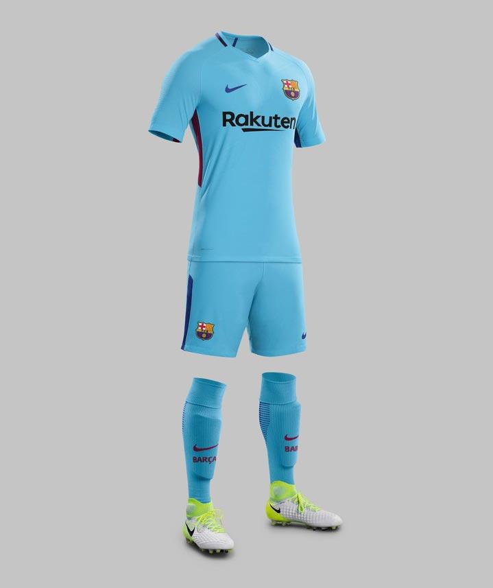 sortie du maillot du fc barcelone extérieur 2017 2018 footy