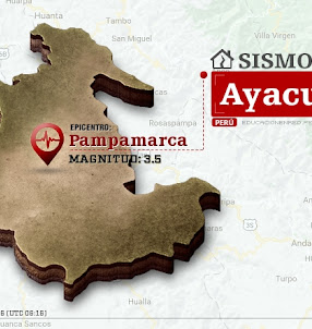 Temblor en Ayacucho de 3.5 Grados (Hoy Sábado 14 Octubre 2017) Sismo EPICENTRO Pampamarca - Aucará - Lucanas - IGP - www.igp.gob.pe