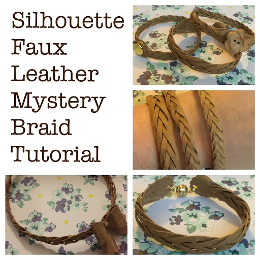 Faux leather mystery braid with free Silhouette cut file by Nadine Muir for UK Silhouette Blog