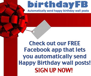 My Memphis Mommy Automatic Birthday Wishes On Facebook With BirthdayFB