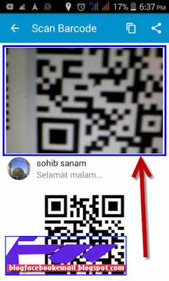 cara mengundang teman BBM lewat barcode scan
