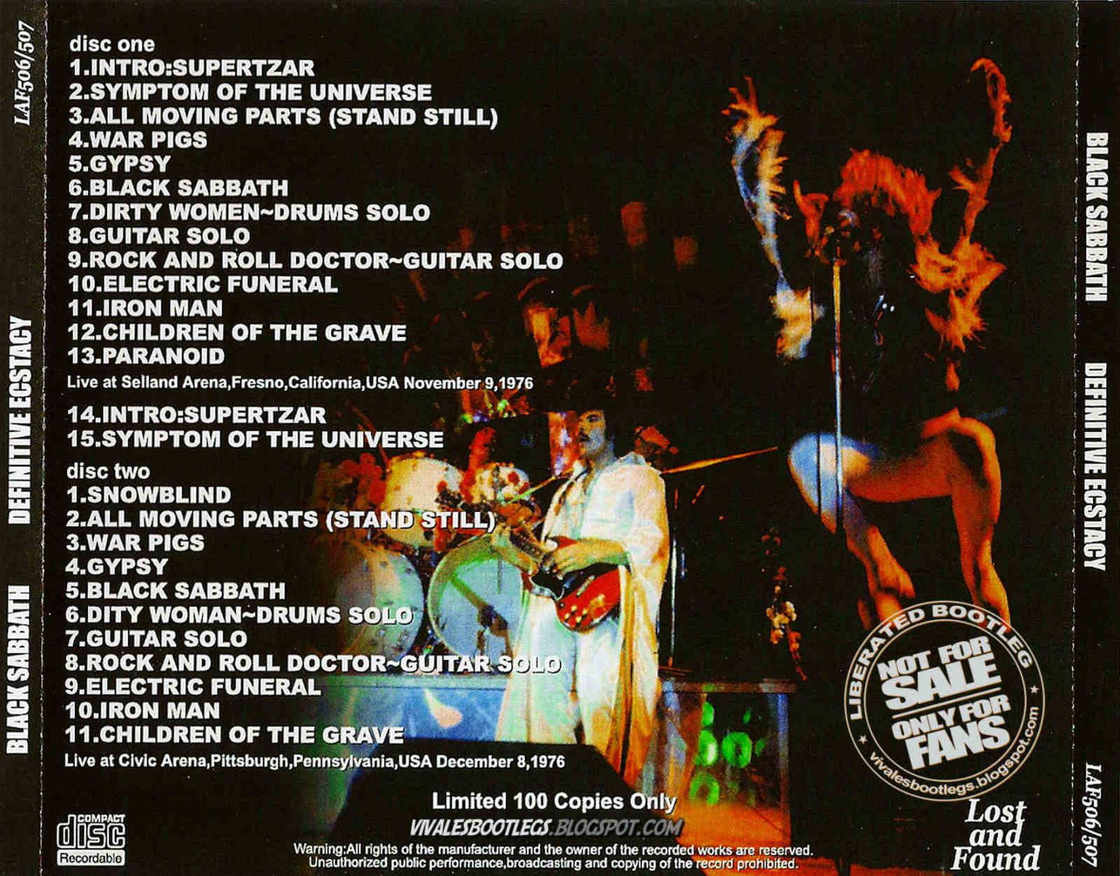 Black Sabbath Definitive Ecstacy Selland Arena Fresno