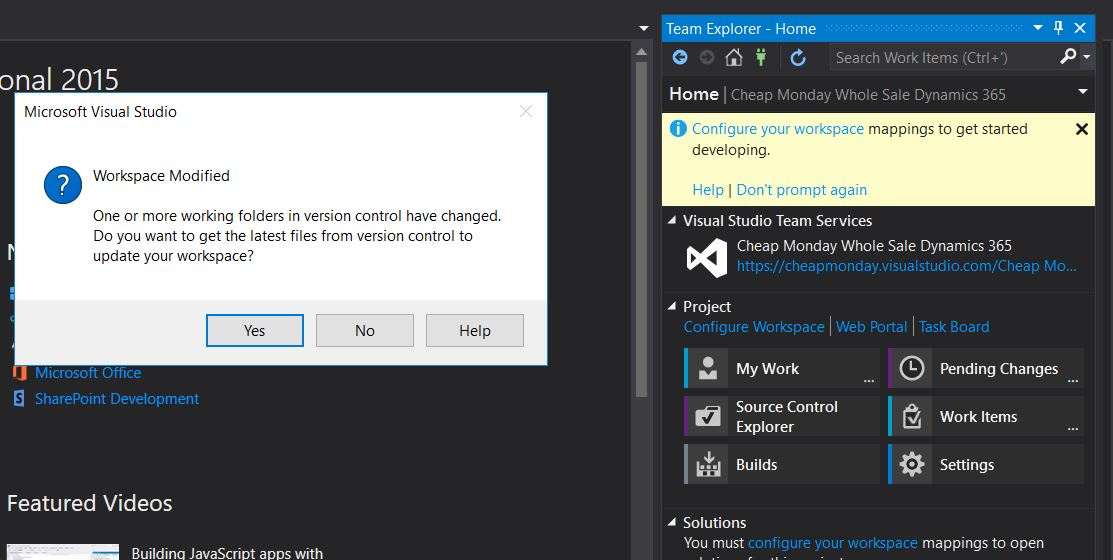 Dynamics 365: Learn in Sharing: Steps To Configure TFS/VSTS