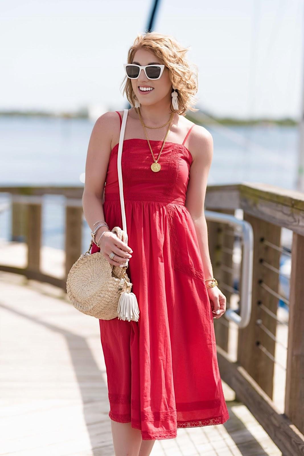 Summer Style (Under $50 Midi Dress) - Something Delightful Blog