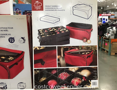 Costco 533700 - Santa's Bags Three Tray Ornament Keeper - great for your Christmas tree's fragile ornaments