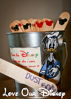 Great way for kids to earn Disney spending money. Chore bucket with extra items they can do for money. LoveOurDisney.com