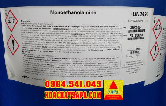 Dung môi công nghiệp Monoethanolamine MEA