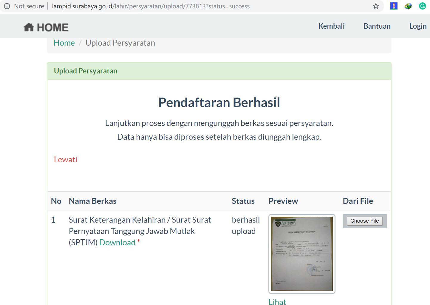Ta Pengalaman Urus Akte Kelahiran Di Surabaya Hanya Dua Minggu