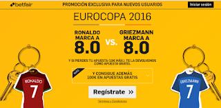 betfair Ronaldo o Griezmann marca Portugal vs Francia supercuota Eurocopa 2016 10 julio