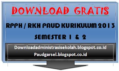 RKH PAUD Kurikulum 2013 Semester 2 Lengkap (Update 2017)