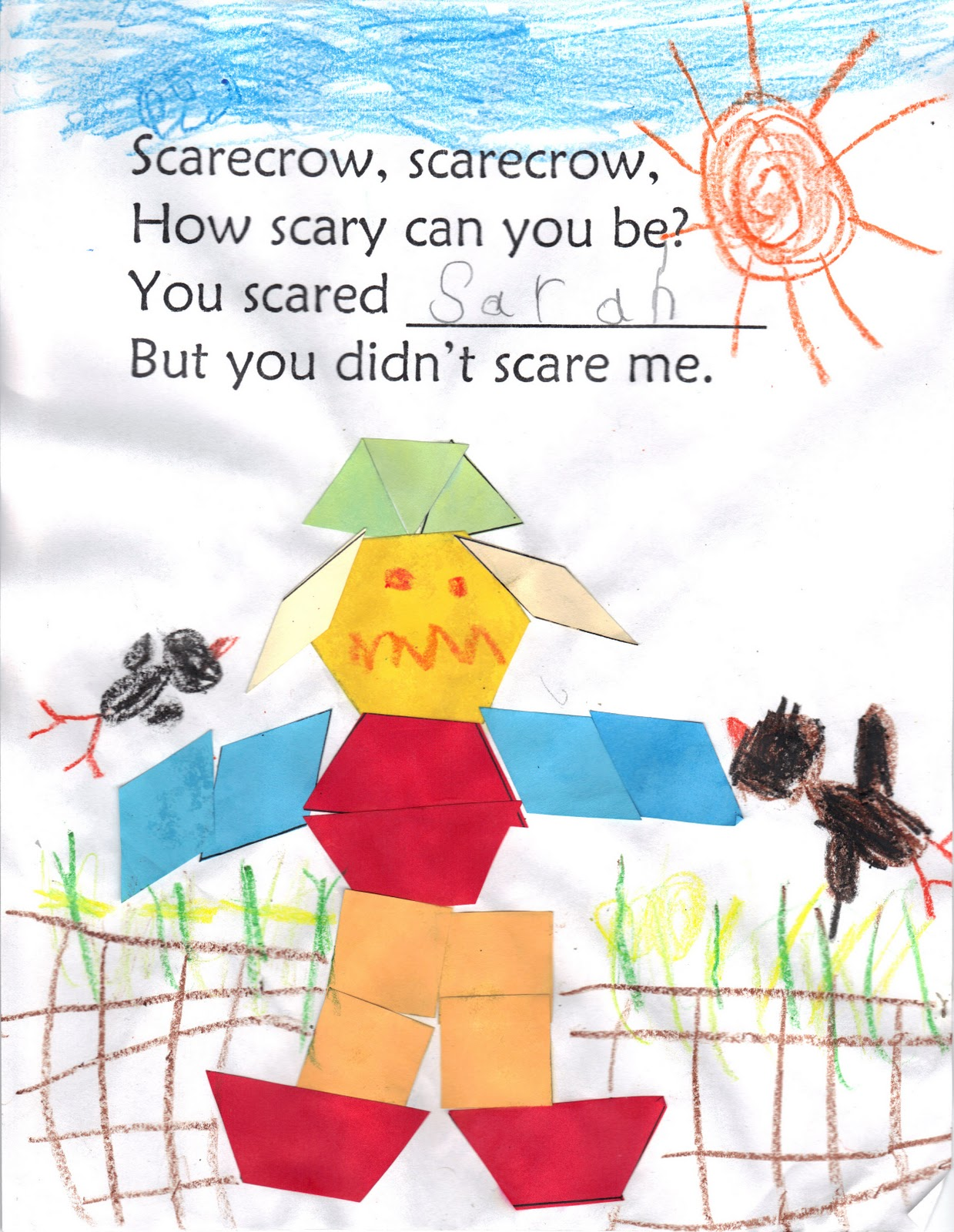 The Very Busy Kindergarten Scary Scarecrows
