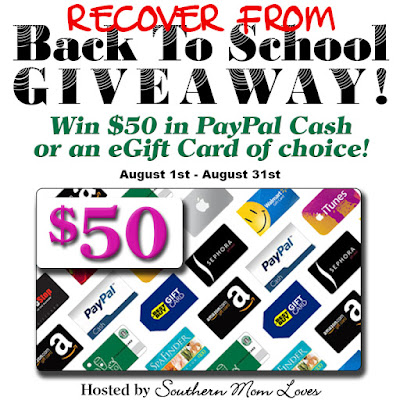 Enter the 'Recover from Back to School' Giveaway. Ends 8/31