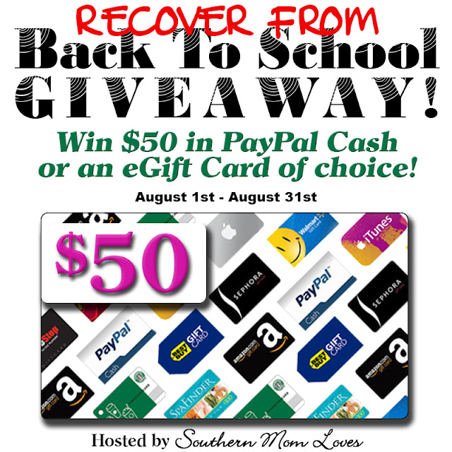Recover From Back To School #Giveaway #Paypal  - Ends 8/31/16