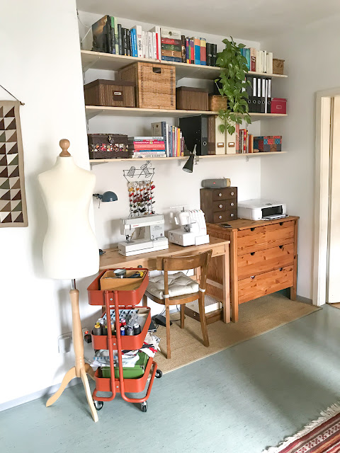 DIY Nähecke - Nähplatz mit wenige Geld einrichten und organisieren