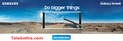 Grameenphone Smartphone and Bundle Offer ! Samsung  Galaxy Note 8 Price 94,900Tk