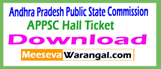 APPSC Hall Ticket Download 2017