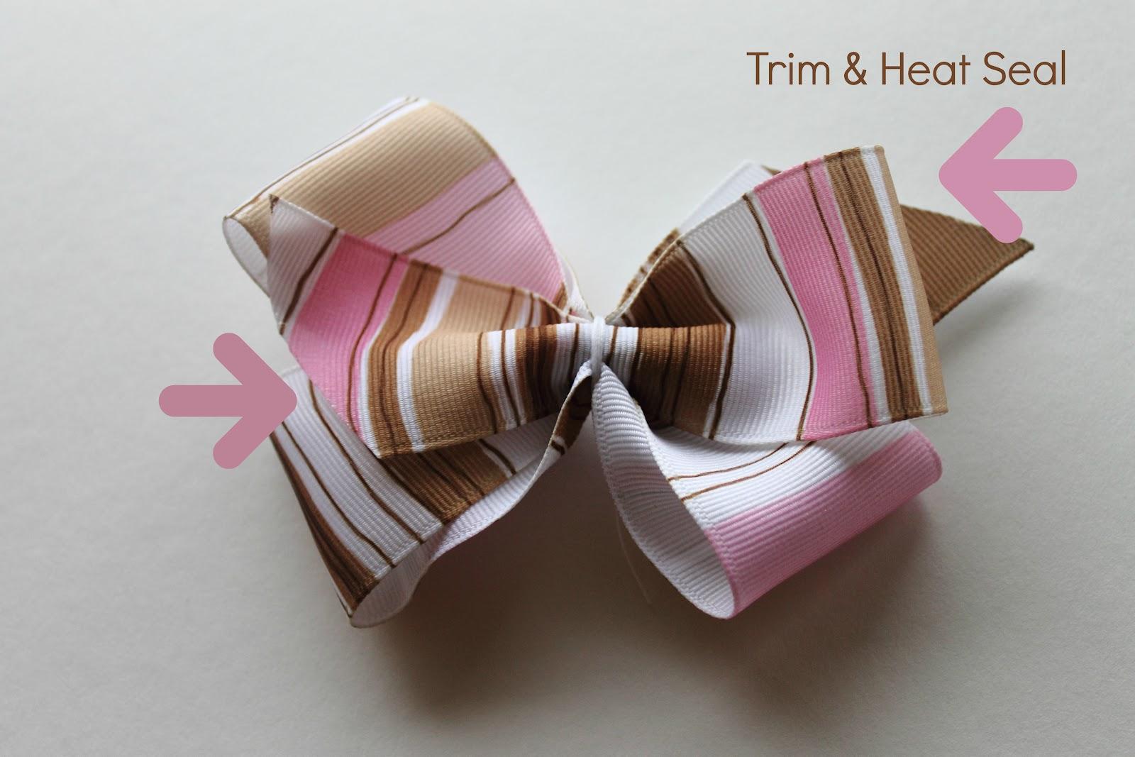 how to make ribbon bow hair clips