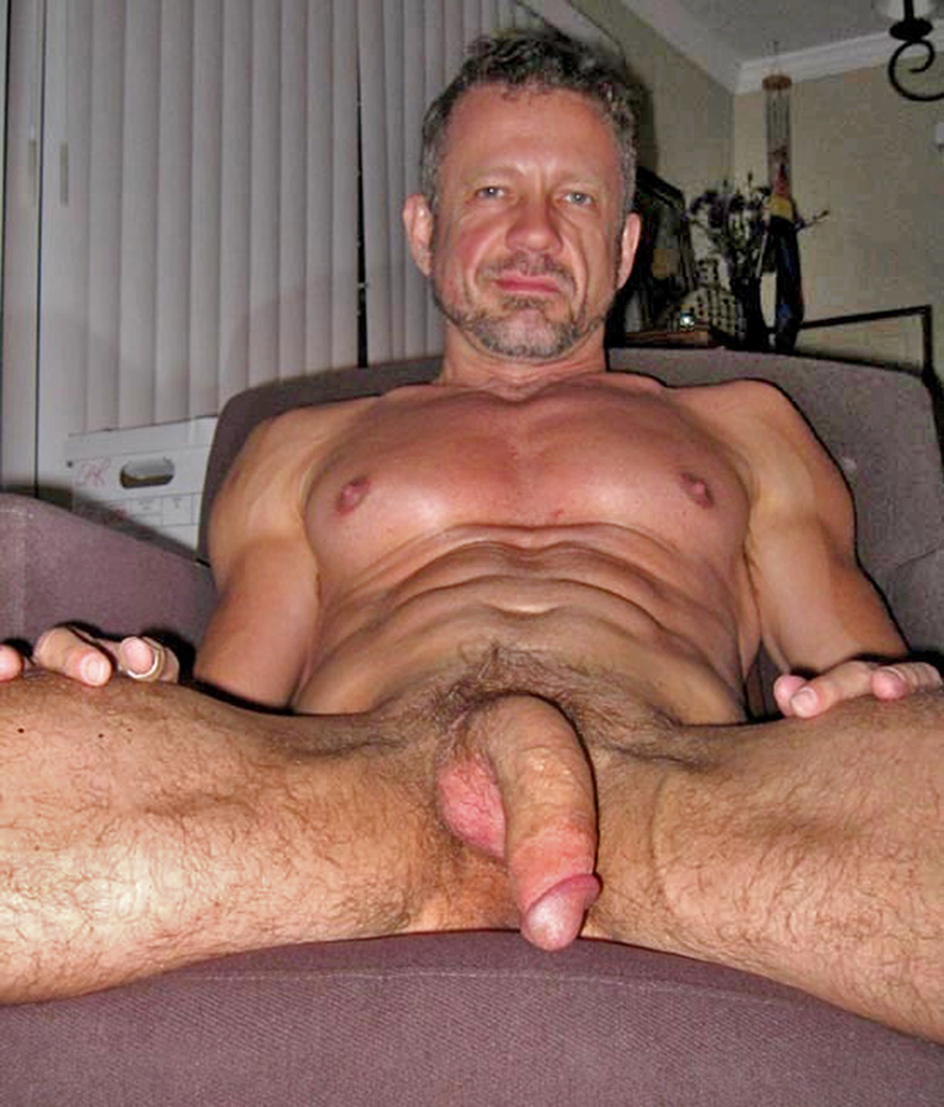 Straight older men nude