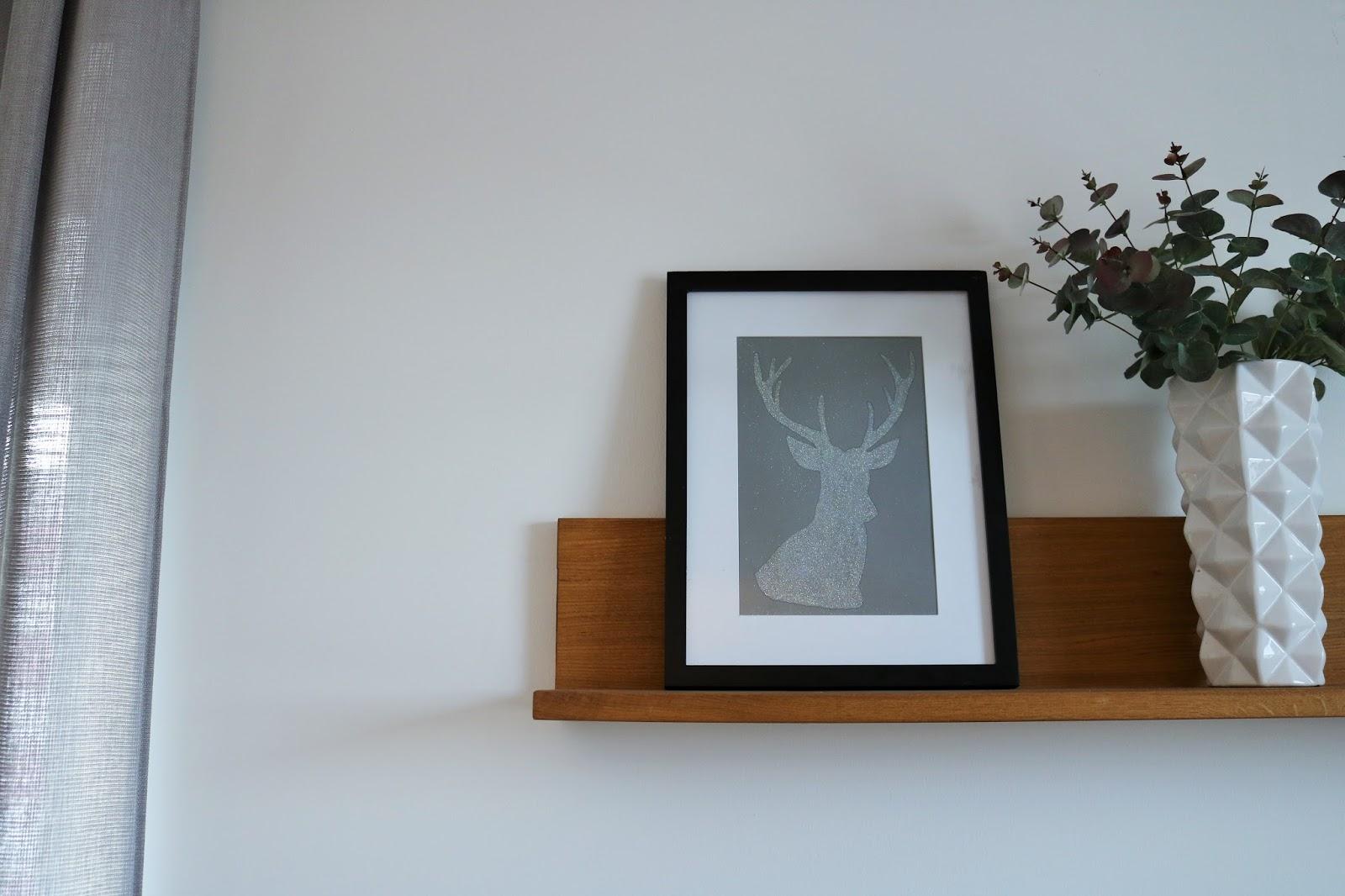świąteczny plakat diy jeleń