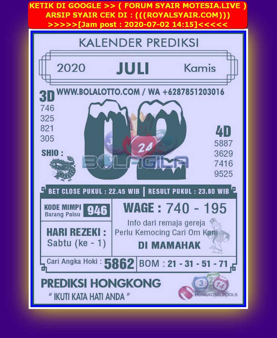 Kode syair Hongkong Kamis 2 Juli 2020 258
