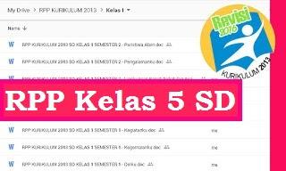 RPP Kelas 5 Kurikulum 2013 Revisi 2018 Semester 2 Tema Peristiwa Dalam Kehidupan