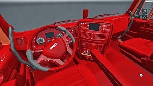 IVECO Hiway red interior by METALJIMIS