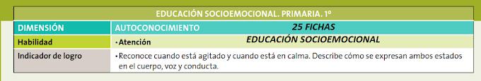 """EDUCACIÓN SOCIOEMOCIONAL """"25 FICHAS"""" 1° PRIMARIA"""