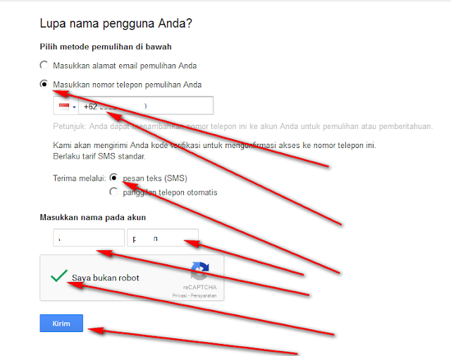 memulihkan password gmail lewat hp Android