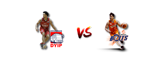 April 25: Columbian vs Meralco, 4:30pm Smart Araneta Coliseum