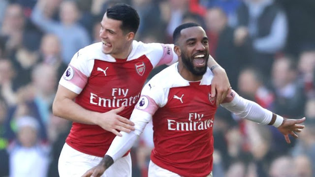 Lacazette scores Arsenal's first goal against Southampton